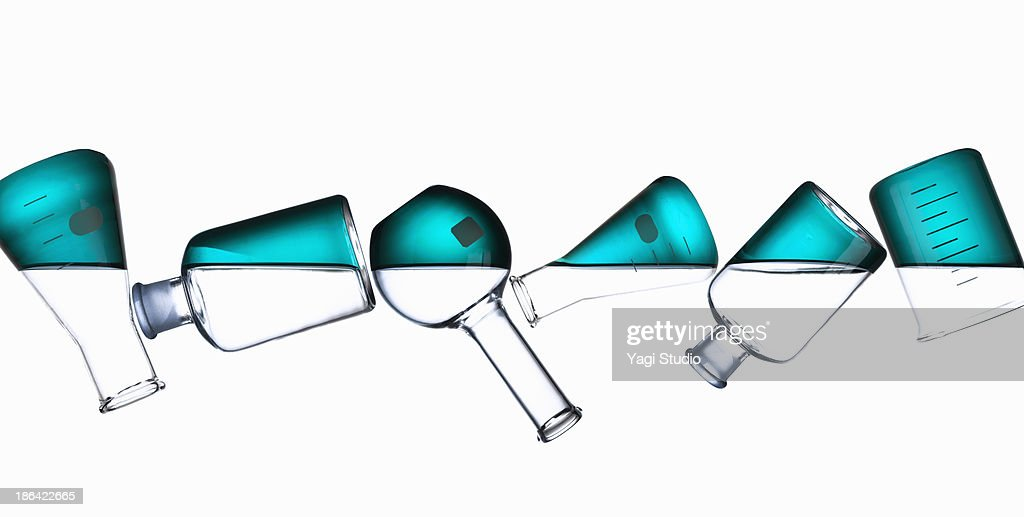 Science beakers : Stock Photo