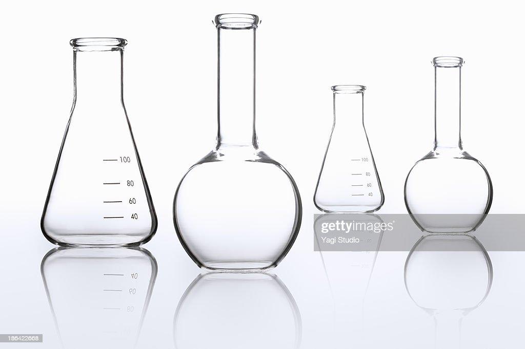 Science beakers : Foto de stock