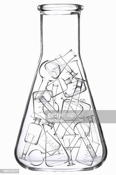science beakers - フラスコ ストックフォトと画像