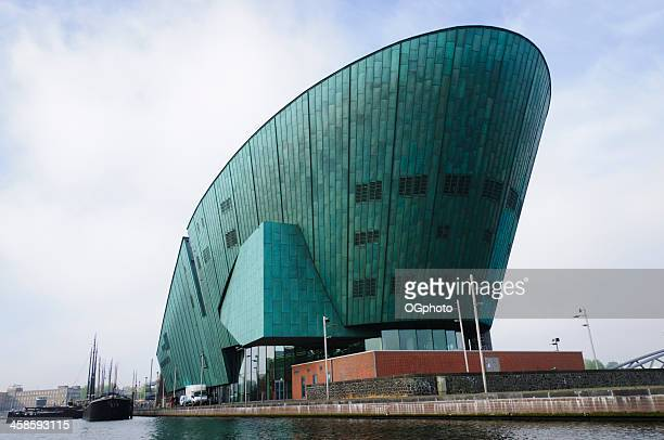 science center nemo in amsterdam, netherlands. - nemo museum stock pictures, royalty-free photos & images