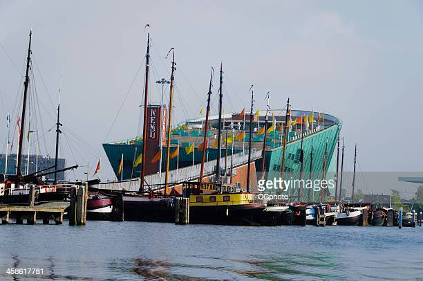 science center nemo in amsterdam, netherlands. - ogphoto stock photos and pictures