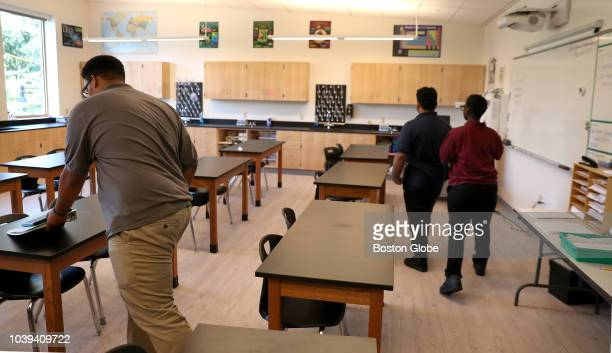 A science classroom is pictured inside the Brooke High School and Eighth Grade Academy in the Mattapan neighborhood of Boston on Sep 21 2018 The...