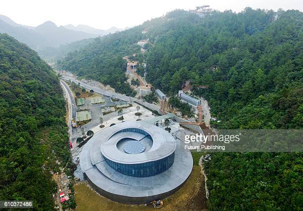 A science education facility near the Fivehundredmeter Aperture Spherical radio Telescope in Pingtang county on September 25 2016 in Guizhou China...