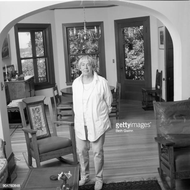 Science Fiction Writer Ursula K Le Guin poses for portrait in her house on July 5 2001 in Portland Oregon