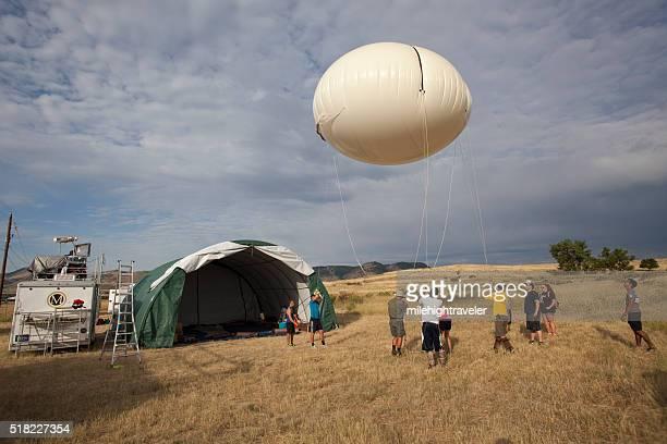 Science team prepares weather balloon instruments Colorado