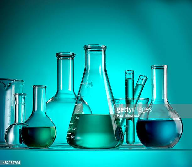 Science_test tubes_beakers_green background