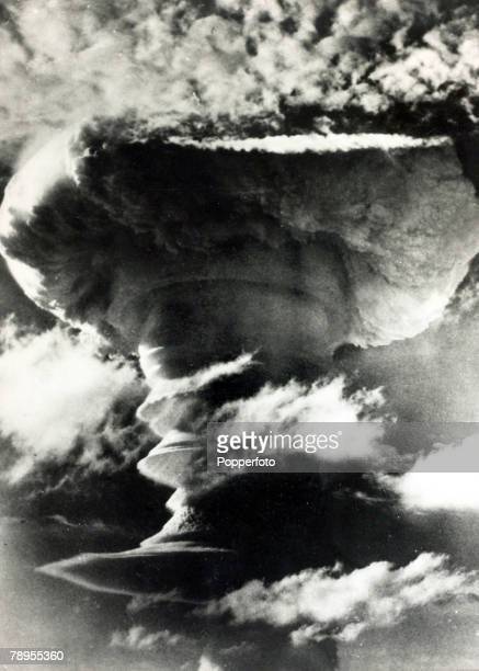 November 1957 Great Britain's Hydrogen Bomb test dropped by a Valiant aircraftat a high altitude over Christmas Island in the central Pacific one of...