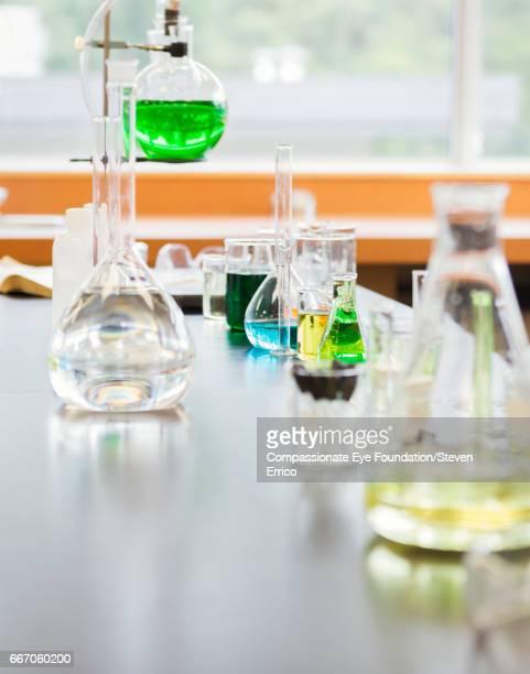 Scientific apparatus and glassware in lab