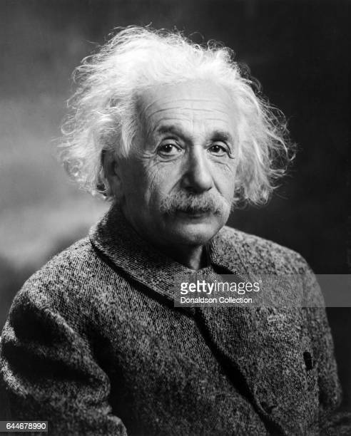 Scientist Albert Einstein poses for a portrait in 1947.