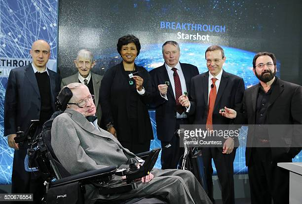 Scientist and investor Yuri Milner Theoretical physicist and Mathematician Freeman Dyson Dr Mae Jemison Dr Pete Worden and Theoretical Physicist Avi...