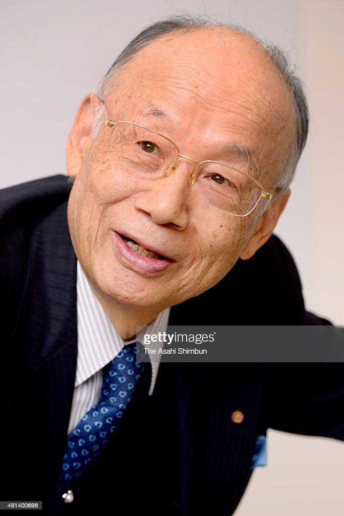 Scientist and Kitasato University Professor Emeritus Satoshi Omura speaks during the Asahi Shimbun interview on December 11, 2014 in Tokyo, Japan.