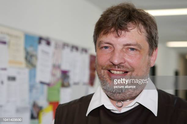 Scientist Christian Kaernbach specialising in the field of goose bumps is pictured in a hallway of the Leipniz Institute for Science and Mathemaics...
