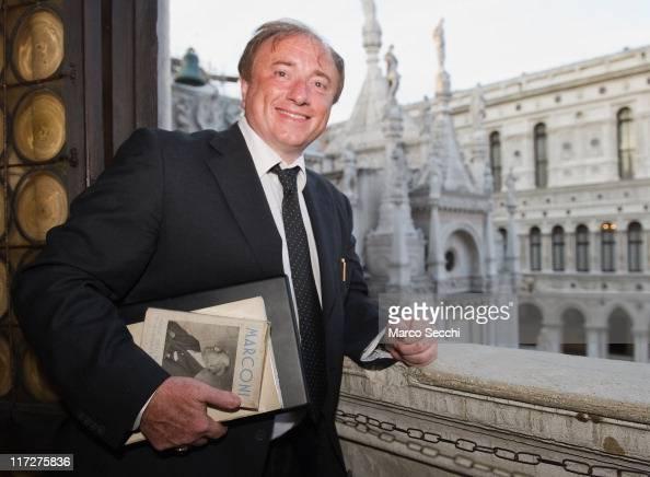 Scientist Fabrizio Tamburini, poses in Palazzo Ducale ...