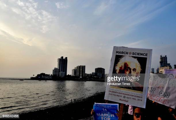 Scientist held 'March for Science' a peace rally to defend science and scientific outlook from Nehru Planetarium to Haji Ali Chowk to raise awareness...