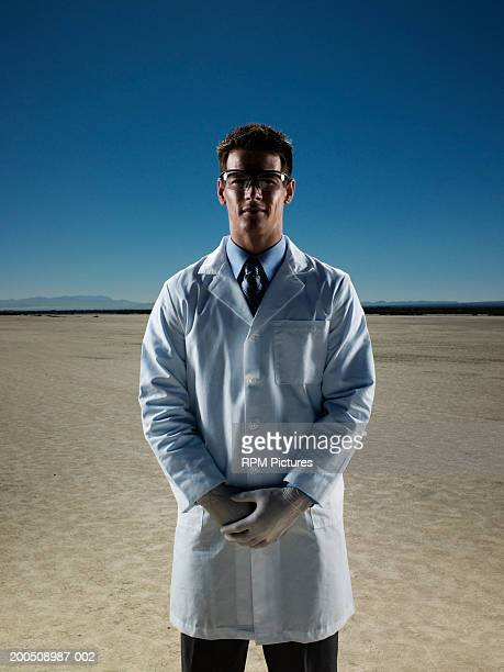 scientist in desert - el mirage dry lake stock photos and pictures