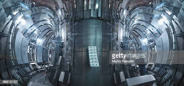 scientist inside a fusion reactor - nuclear reactor stock pictures, royalty-free photos & images