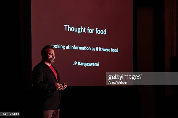Scientist JP Rangaswami speaks during TED at SXSW at The Driskill Hotel on March 11 2012 in Austin Texas