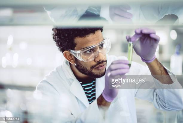 Scientist Looking at Test Tube