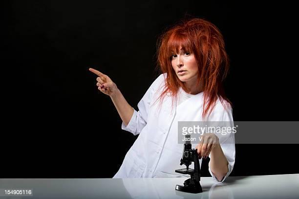 Scientist Pointing