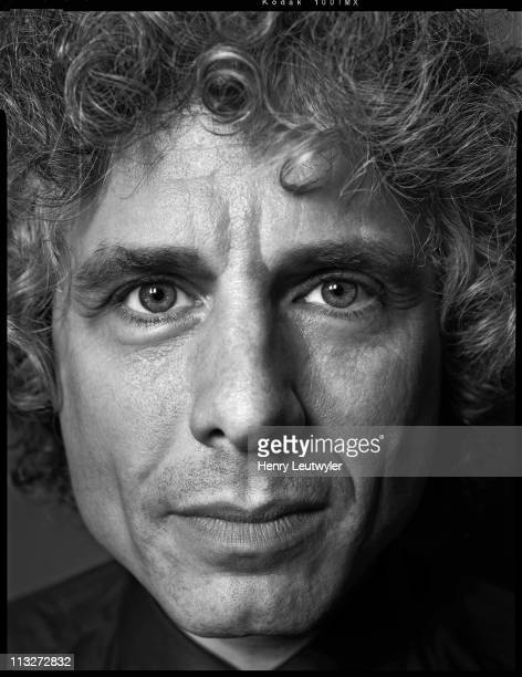Scientist psychologist and academic Steven Pinker photographed for Seed Magazine on May 18 in New York City