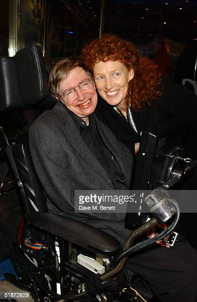 Scientist Stephen Hawking and wife Elaine Mason arrive at the European Premiere of Lemony Snicket's A Series Of Unfortunate Events at the Empire...