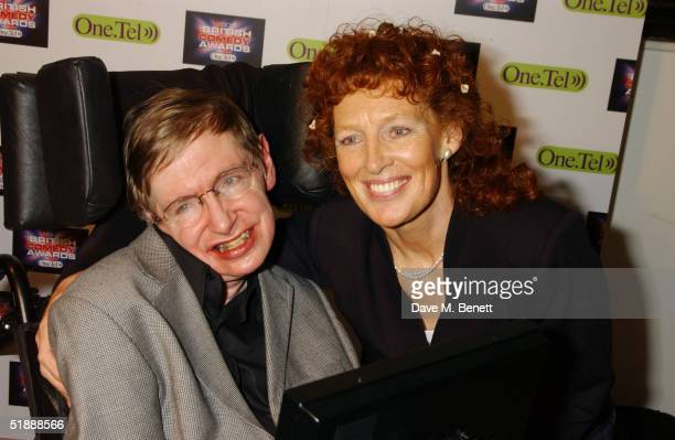 Scientist Stephen Hawking and wife Elaine Mason at the British Comedy Awards 2004 at London Television Studios on December 22 2004 in London Jonathan...