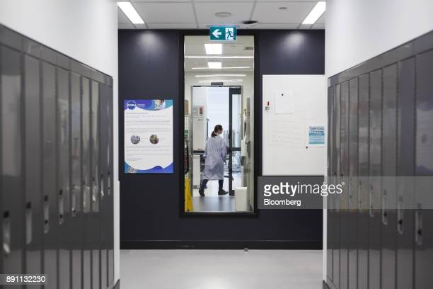 A scientist walks through the laboratory of the Centre for Commercialization of Regenerative Medicine at the MaRS Discovery District in Toronto...