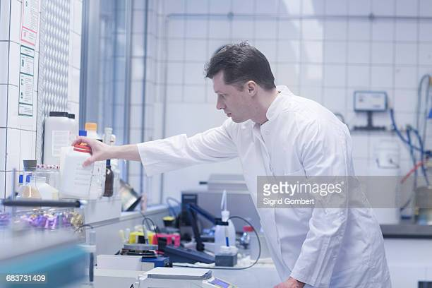 scientist working in laboratory - sigrid gombert stockfoto's en -beelden