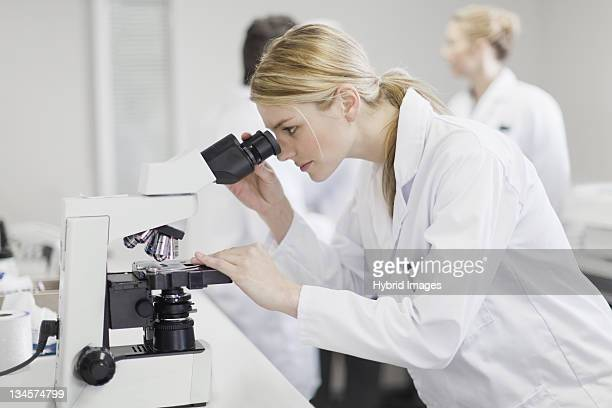Scientist working in pathology lab