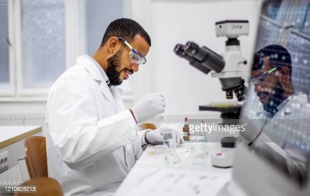scientist working in the laboratory - oncology stock pictures, royalty-free photos & images