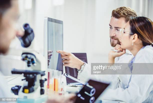 scientist working in the laboratory - hematology stock pictures, royalty-free photos & images