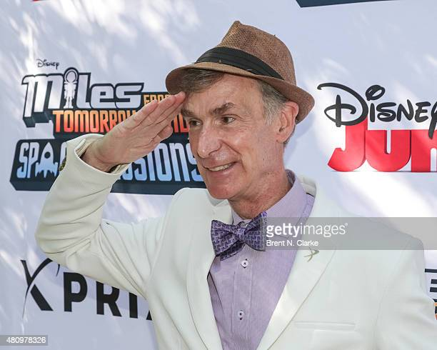 Scientist/educator Bill Nye arrives for the 'Miles from Tomorrowland Space Missions' kick off event held at New York Hall Of Science on July 16 2015...