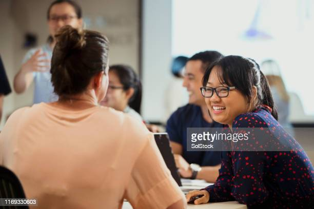 scientists discussing ideas - knowledge is power stock pictures, royalty-free photos & images