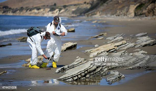 Scientists from the California Department of Fish and Wildlife and the UCSB Marine Science Institute conduct natural resource damage assessments in...