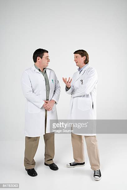 Scientists having discussion