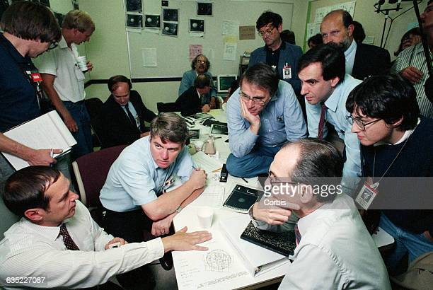 NASA scientists including astronomer Carl Sagan discuss the images of Neptune's moon Triton that were taken by the Voyager 2 probe   Location near...