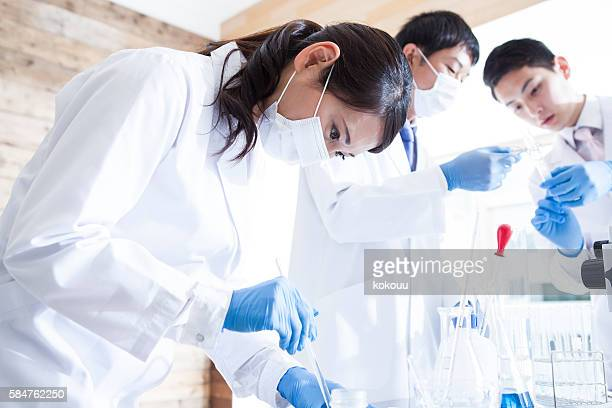 Scientists to study in clean laboratory.