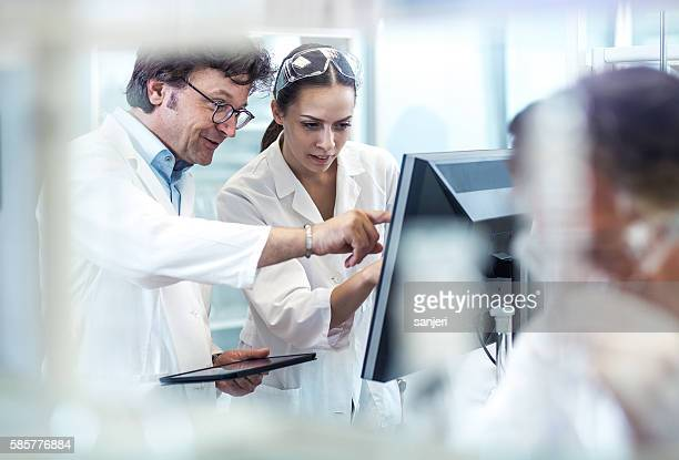 Scientists Working in the Laboratory