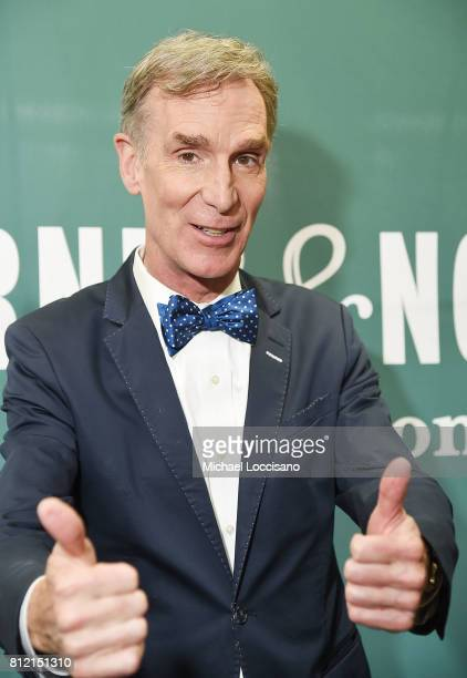 Scientist/TV personaity Bill Nye 'The Science Guy' attends an In Conversation at Barnes Noble Union Square on July 10 2017 in New York City