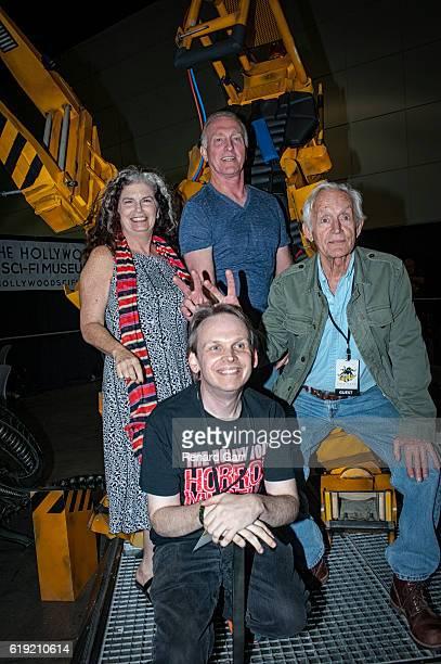 SciFi Museum founder Houston Huddleston Jenette Goldstein Mark Rolston and Lance Henriksen at Los Angeles Convention Center on October 29 2016 in Los...
