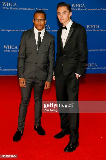 Scion Kelly and Parkland shooting survivor and activist David Hogg attend the 2018 White House Correspondents' Dinner at Washington Hilton on April...