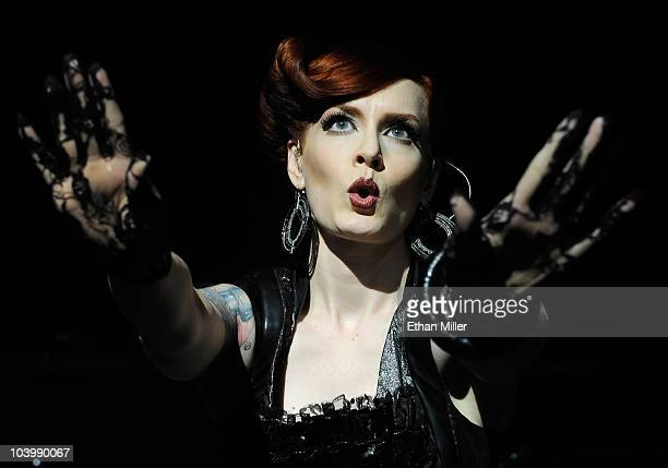 Scissor Sisters singer Ana Matronic performs at The Pearl concert theater at the Palms Casino Resort September 10 2010 in Las Vegas Nevada The band...