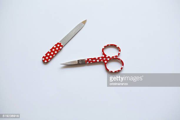Scissors and red lime