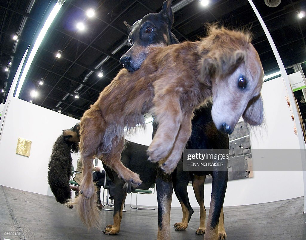 A sclupture by German artist Jochem Hendricks is on display during a press preview of the 'Art Cologne' art fair on April 20, 2010 in Cologne, western Germany. The 44th 'Art Cologne' taking place from April 21 to 25, 2010 will showcase 180 modern, post-war and contemporary galleries.