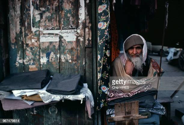 Scène de rue dans la ville d'Hérat le 28 janvier 1980 Afghanistan