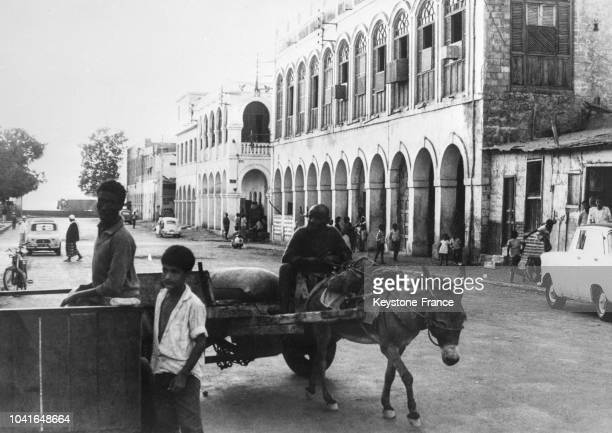 Scène de vie pendant le référendum dans les rues de Djibouti le 14 avril 1967