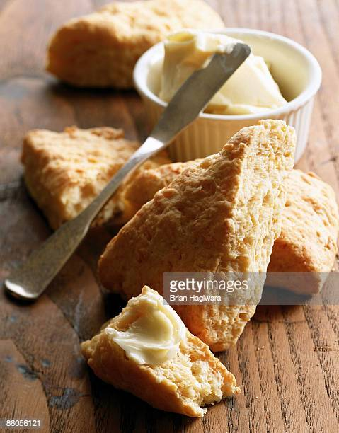 scones with butter - margarine stock pictures, royalty-free photos & images