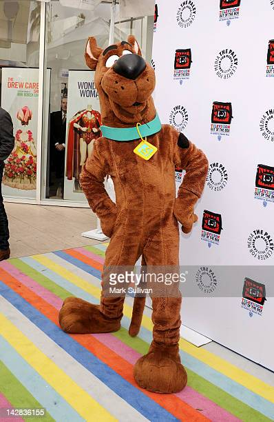 Scooby Doo arrives at the Paley Center's opening of Television Out Of The Box at The Paley Center for Media on April 12 2012 in Beverly Hills...
