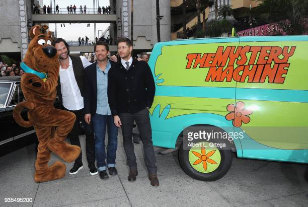Scooby Doo Jared Padalecki Misha Collins and Jensen Ackles attends The Paley Center For Media's 35th Annual PaleyFest Los Angeles 'Supernatural' held...