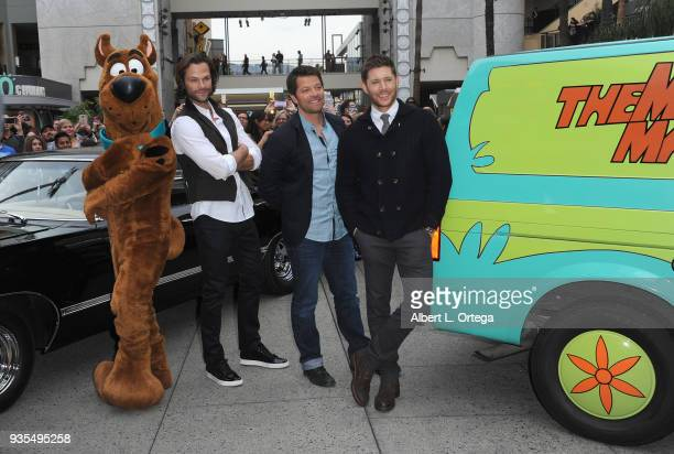 Scooby Doo Jared Padalecki Misha Collins and Jensen Ackles attends The Paley Center For Media's 35th Annual PaleyFest Los Angeles Supernatural held...